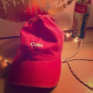 Red coke hat